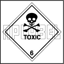 160050 TOXIC Signs Stickers