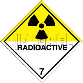 160051 RADIOACTIVE Sign Stickers