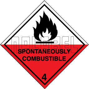 160052 SPONTANEOUSLY COMBUSTIBLE Signs Sticker