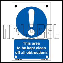160059ML Keep the area Clear Name Plates