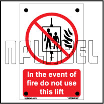 160060 Do not use lift Name Plates & Signs