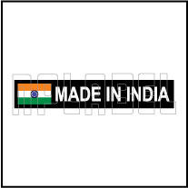 160072 MADE IN INDIA Signs Stickers