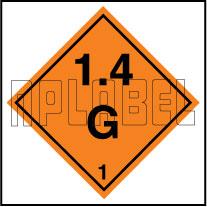 160077 Explosive Sign Code Sticker 1.4G