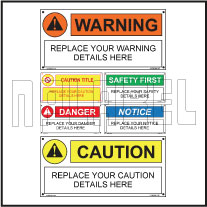 160088 Customize Caution Warning Labels