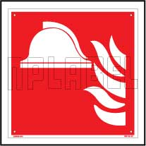 160145 Fire Safety - Alert Sign Name Plate