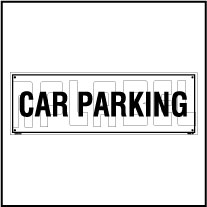 160183 Car Parking Name Plate