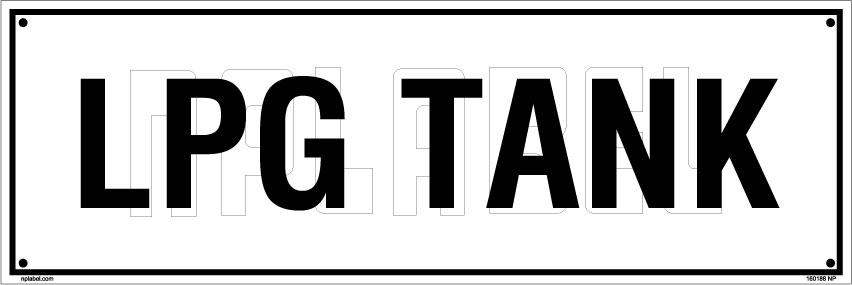 160188 LPG Tank Name Plate
