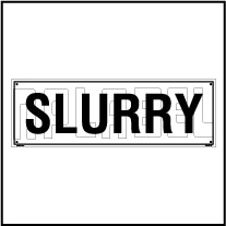160192 Slurry area Name Plate