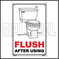 162502 Flush Toilets Labels & Signs
