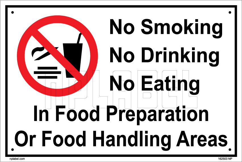 162503 Smoking,Eating & Drinking Sign Name Plates