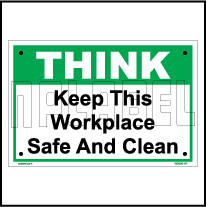 162506 Keep Workplace Clean Name Plate & Signs