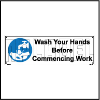 162511 Wash Hand Sign Labels