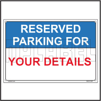162512ML Reserved Parking Custom Name Plate