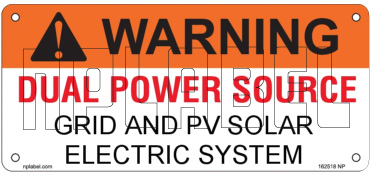 162518ML Customize Dual Power Supply Warning Metal Labels