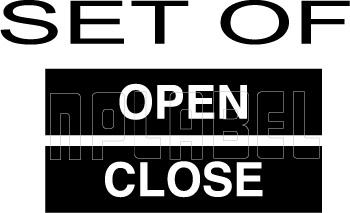 162547DQ OPEN - CLOSE Labels