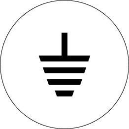 162548ADQ Earthing Metal Labels