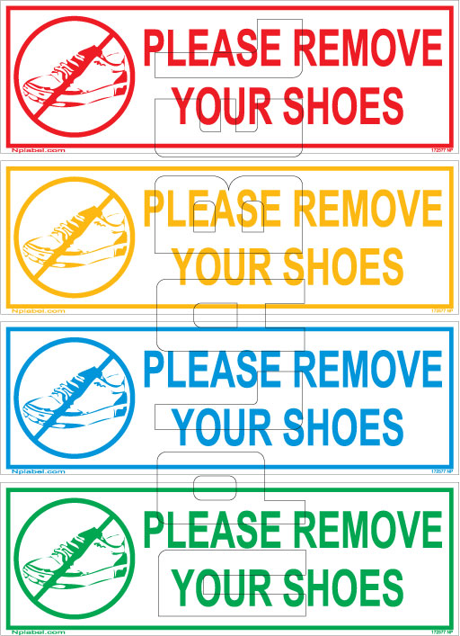 162577 Remove Your Shoes Sticker