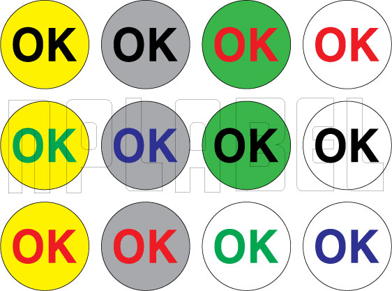 210094 OK Round Sticker