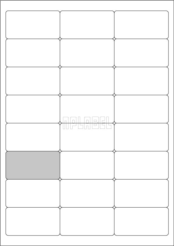 GU3024 Multipurpose Address Sticker A4 Sheets