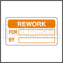320813 Rework QC Sticker Label
