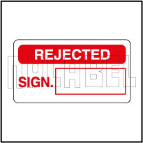 420003 Quality Control Sticker - Rejected