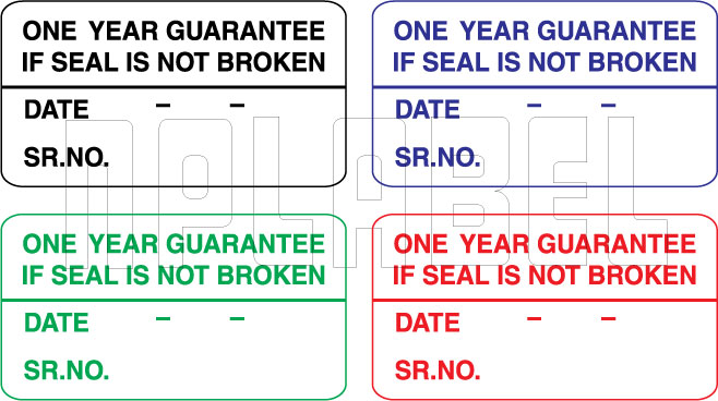 420009 One Year Guarantee Security Sticker