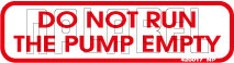 420017VP Do Not Run The Pump Empty Instructions