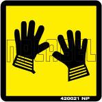 420021 Wear Gloves Labels & Stickers