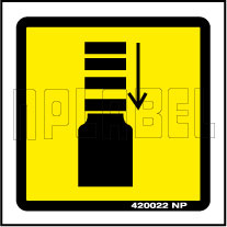420022 Caution - Impact Labels & Stickers