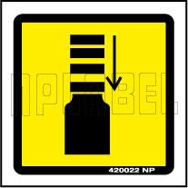 420022 Caution - Impact Labels & Stickers
