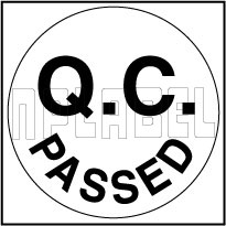 420035 Q.C. Passed Round Sticker