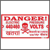 420505 Danger 440/460 Volts Stickers