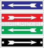 420518 Direction Arrow Metal Labels