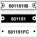 501151 - Control Panel Labels Size 45 x 13mm
