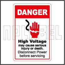 570570 High Voltage May Cause Death Caution Labels