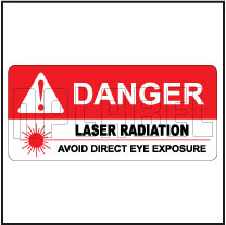 570573 Sticker Label - Avoid Laser Radiation