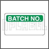 570642 Batch No. Stickers & Labels