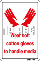 582112 Wear Soft Cotton Gloves Stickers