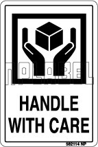582114 Handle With Care Shipping Stickers & Labels