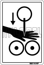 582116 Safe Hand Caution Sticker & Labels