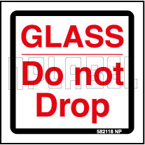 582118 Caution Glass Do Not Drop Signs Stickers