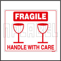 582536 Fragile - Handle With Care Sticker