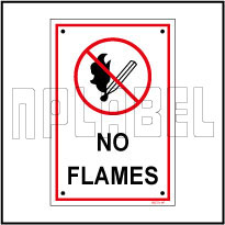 582721 No Flames Name Plates & Signs