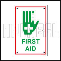 582725 First Aid Sign Label
