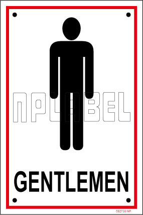582733 Gentlemen Toilets Sign Name Plates & Signs