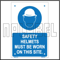 590736 Safety helmets must be worn warning sign