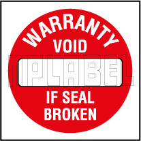 590661 Warantee Void Seal Sticker