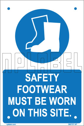 590737 Safety Footwear Name Plates & Sign