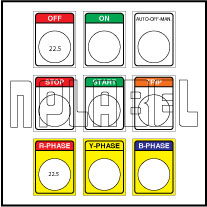 590812 Push Button Labels