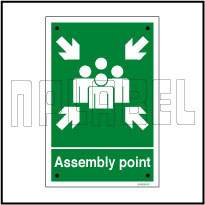 591689 Assemble Point Sign Name Plate & Signs